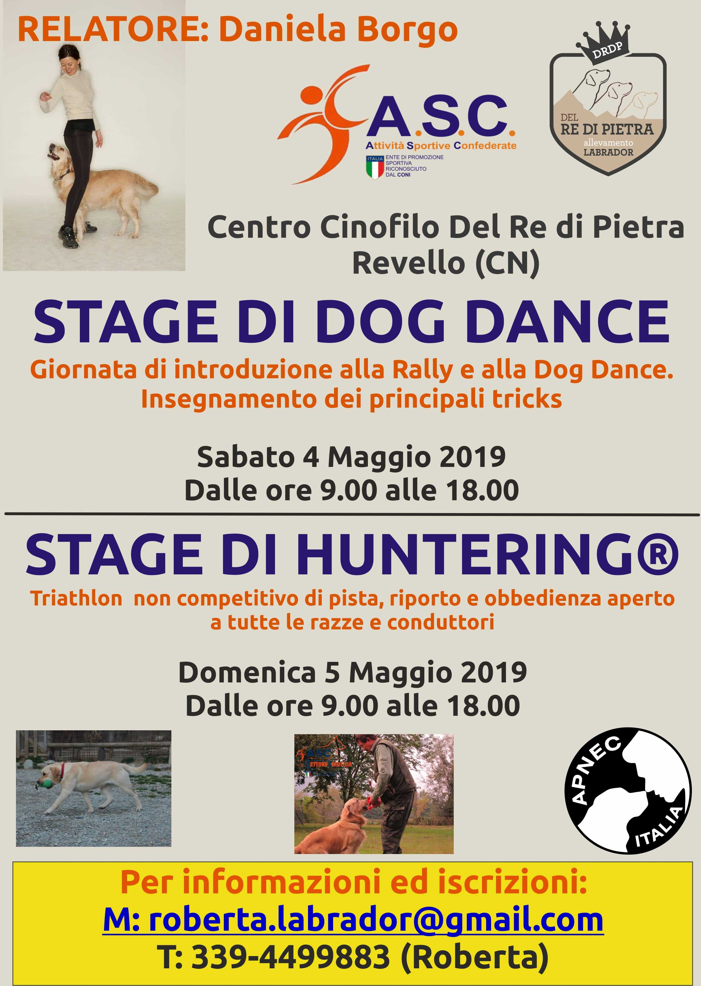 STAGE DI DOG DANCE & HUNTERING®