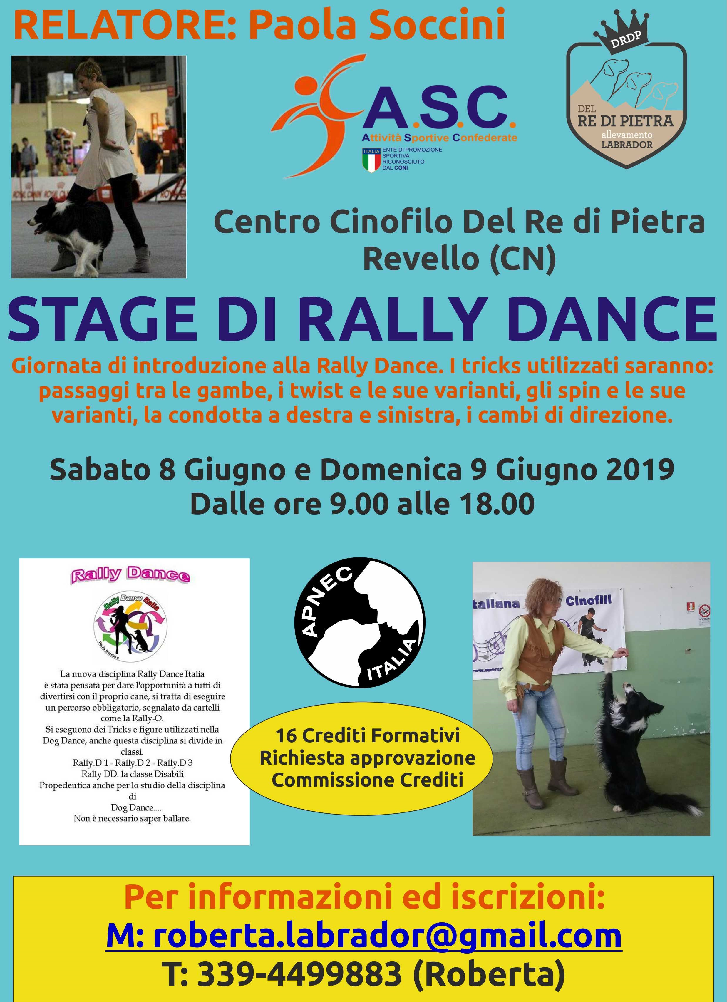 STAGE DI RALLY DANCE